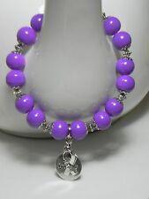 Handmade, Pancreatic & Leiomyosarcoma CANCER AWARENESS Bracelet Support Ribbon