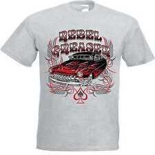 T-Shirt grey Hot Rod US Car & `50 Style Emotiv Model Rebel Greaser