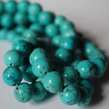 "16"" Strand Semi Precious Gemstone Turquoise Round Beads  4mm 6mm 8mm 10mm 12mm"