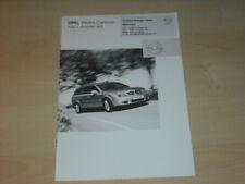 31341) Opel Vectra Caravan Preise Extras Prospekt 2003
