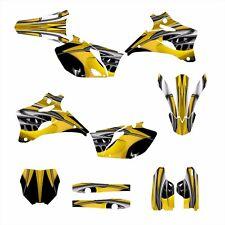 2006 2007 2008  2009 YZ250F YZ450F Graphics sticker kit #4444 Yellow Tribal