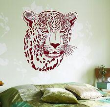 Wall Vinyl Decal Cheetah Ethnic Decor Leopard African Mural Decor z3671