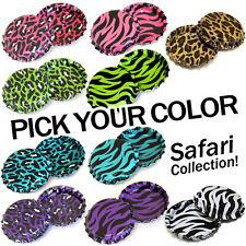 50 Safari Bottle Caps PICK A COLOR Zebra Cheetah Colors Linerless
