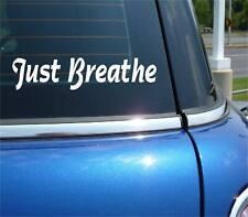 JUST BREATHE RELAX MASSAGE FUNNY DECAL STICKER ART CAR WALL DECOR