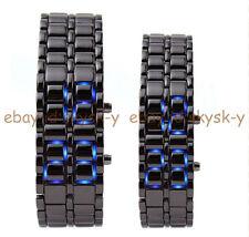 New Luxury Men's Women LED Digital Stainless Steel Lava Bracelet Sport Watches