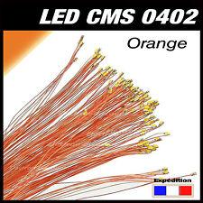 C144O# LED CMS pré-câblé 0402 orange fil émaillé 5 à 20pcs  - prewired LED