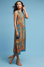 NWT Anthropologie Tanvi Silk Column Dress by Akemi+Kin 0, ORANGE 100% SILK $168