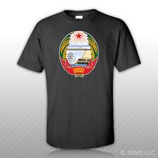 North Korean Emblem T-Shirt Tee Shirt Free Sticker North Korea flag PRK PK
