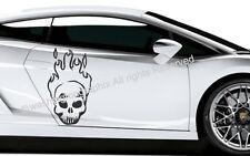 SKULL-Wall Art Vinile / Decalcomania rif 5 Auto, Furgone, Barca, Bici Tablet