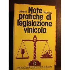 Sabellico - Note pratiche di legislazione vinicola