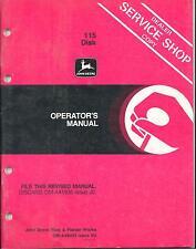 John Deere 115 Disk DEALER SERVICE SHOP COPY Operators Manual