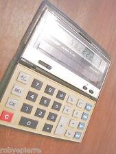 Calcolatore calcolatrice SHARP EL 332 elsi mate solar cell calculator 1985 leggi