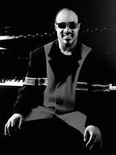 Stevie Wonder BW Piano Retro Music Artist Singer Giant Wall Print POSTER