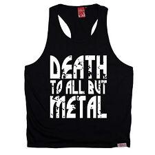 MORTE a tutti, ma in metallo Muscle Canotta pesanti in Acciaio Punk Rock Regalo Di Compleanno Divertente
