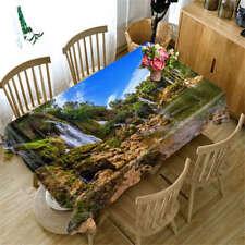 Crisp Mountain 3D Tablecloth Table cover Cloth Rectangle Wedding Party Banquet