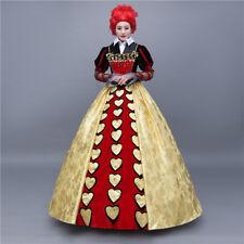 Alice Adventures in Wonderland The Red Queen Disney Cosplay Costume Kostüm Kleid