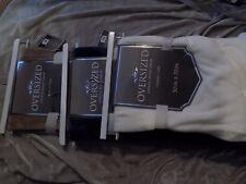 Oversized Chenile Fringe Throw Blanket Plush Soft 50x70 Solid Color New!