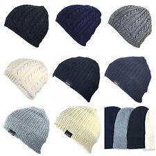 NEUF Bonnet tricoté FR Short TRICOT D'hiver unisexe polaire doublé