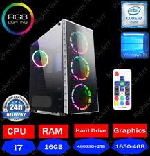 Veloce Quad Core i7 GTX 1650 Gaming PC 16GB RAM computer desktop di Windows 10 2TB