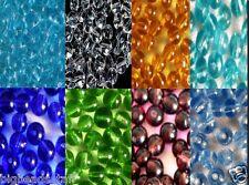 100pcs rond cristal perles de verre différentes couleurs et tailles