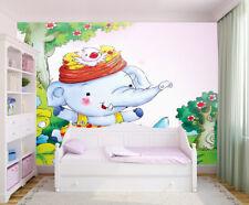 3D Eléphant 916 Photo Papier Peint en Autocollant Murale Plafond Chambre Art