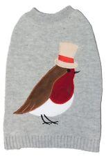 Festive Sotnos Top Robin Dog Christmas Jumper, 6 Sizes Xmas Sweater