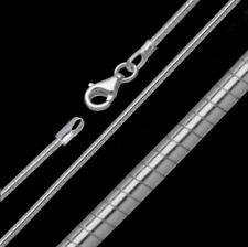 Collier Omegakette 925 Sterling Silber Silberkette Kette Omega Halsreif 45 50cm