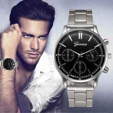 GENEVA Mens Dial Stainless Steel Watch Analog Quartz Sport Wrist Watches