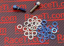 Titanium Stem Bolt Washers M5, M6 Blue or Natural, Diameter same as bolt head