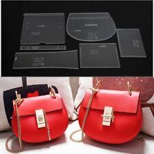 Leather Craft Clear Acrylic shoulder bag handbag Pattern Stencil Template XKB