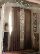 Newport Grommet Top Window Curtain Panel, Mocha or Mist, Choice