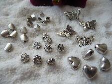 100pcs Metall Perlen Spacer Lose Charm Tibet Silber Schmetterling 14x14x6mm
