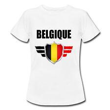 T-shirt Enfant Belgique avec prénom au dos personnalisé - Mondial Football 2018