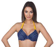Panache Leanna Underwire Heart Triangle Swimsuit Swim Halter Tie Top MRSP $70
