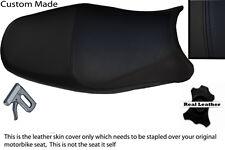 BLACK CUSTOM FITS SUZUKI BANDIT GSF 1200 00-05 LEATHER SEAT COVER
