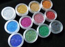NailArt Hologramm Glitter Glitzer Flitter Multicolor Regenbogen LASER in Dose
