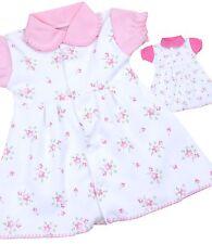 BabyPrem Baby Clothing Girls White Pink Vintage Floral PREEMIE MICRO Dress 1-7lb