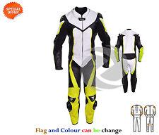 cuir jaune course costume en une pièce MOTOGP Gears Fast COMBINAISON MOTO PROMO
