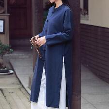 Womens Tai Chi Coat Chinese Tang Suit Top Martial Arts Kung Fu Uniform Vintage