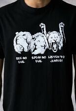 Junglist Lions DJ T Shirt Neurofunk Drum and Bass Jungle Breakbeat DnB Men's Tee