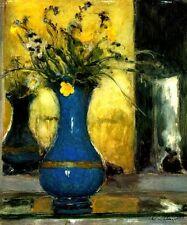 LE VASE BLEU BLUE VASE FLOWERS STILL LIFE PAINTING BY EDOUARD VUILLARD REPRO