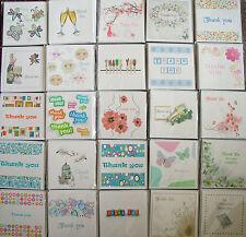 Tarjetas de agradecimiento. paquete De 6 tarjetas, en blanco adentro, Varios Diseños para Elegir