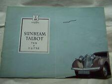 1948 SUNBEAM  SALES BROCHURE OWNERS PARTS