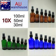 10PCS 30ml ~100ml Amber Glass Bottles Fine Mist Sprayer For Aromatherapy Perfume