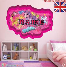 Graffiti 10 personalizzata nome adesivo parete stanza bambini Decalcomania Vinile in tessuto UK