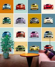 3D Car model wall Paper Print Decal Wall Deco Indoor wall Mural