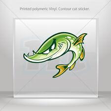 Stickers Sticker Smart Fish Helmet Atv Bike polymeric vinyl Garage st5 RS979