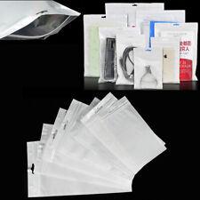Clear White Reclosable Zip Bag Seal Hang Bag Plastic Packaging ZipLock Bags