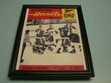 1964-65 PITTSBURGH HORNETS FRAMED PROGRAM  PRINT