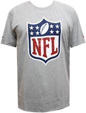 New Era NFL LOGO MAGLIETTA GRIGIO MELANGE On Field Fan m, L, XL, XXL Uomo NUOVO